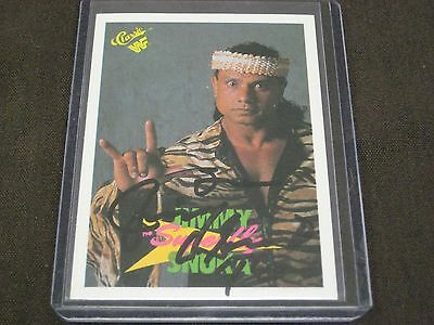"""The Late Great Wrestling Legend  Jimmy """"superfly"""" Snuka  Autograph Card W/coa"""