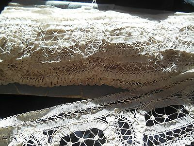 Antique Off White Tape Lace Rare Find of 10 Continuous Yards