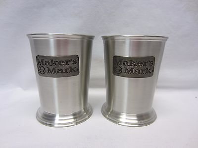 Two MAKERS MARK Bourbon Pewter Cups / Glasses