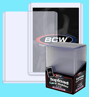 20 BCW 197pt 5MM THICK TOPLOADERS NEW Trading Card Holder Sports Jersey Topload