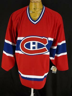 Mens Montreal Canadiens NHL CCM Sewn Logo Hockey Jersey Shirt L Large New Tags