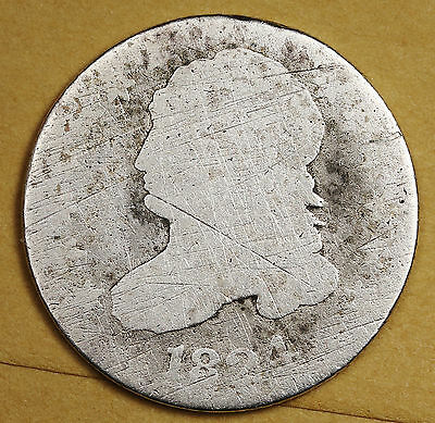 1824/2 Bust Dime.  Circulated.  96066
