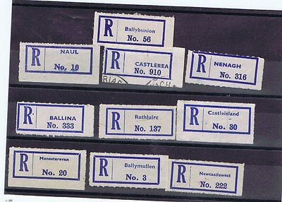 Ireland Selection Of Registration Labels