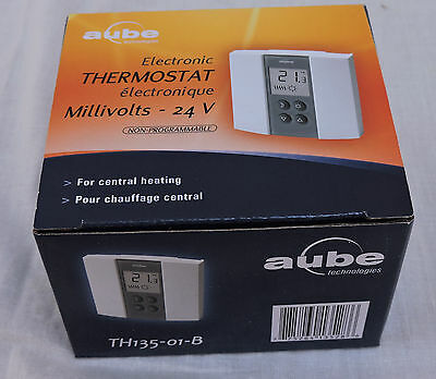 Aube by Honeywell TH135-01-B Electronic Thermostat Non Programmable New