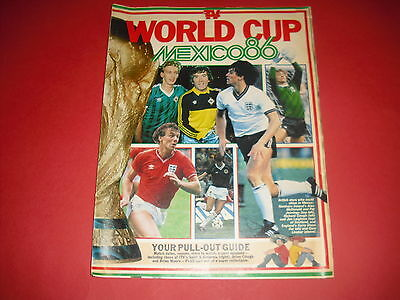 1986 World Cup Mexico 86 Tv Times Pull Out Guide