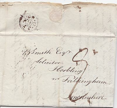 1820 Tooke & Carr London Solicitors Letter  Lincs Court Case In The Kings Bench