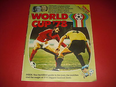 1978 Tv Times World Cup Pull Out - Tournament Scorecard