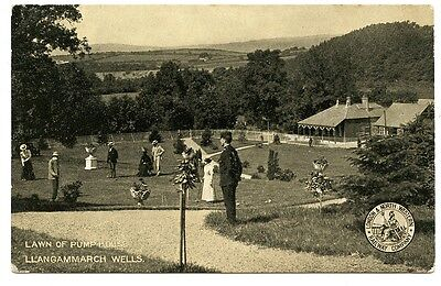Lawn Of Pump House, Llangammarch Wells: Lnwr Official Postcard 1905.