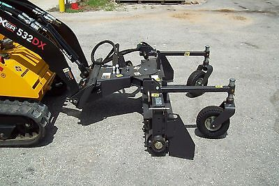 Harley Landscape Rake 4' For Most Mini Skid Steers,Factory Leftover, Crated,Save