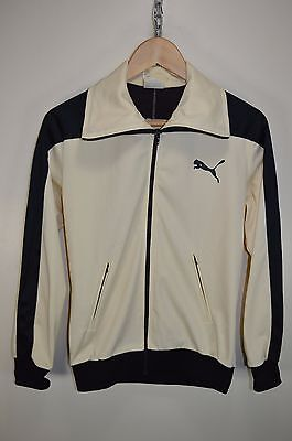 vtg 70s PUMA RARE OLDSCHOOL RETRO TRACK JACKET TRACKSUIT TOP CASUALS size SMALL