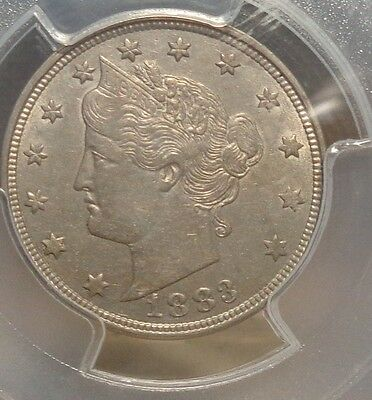 1883 NO CENTS Liberty Nickel PCGS AU53