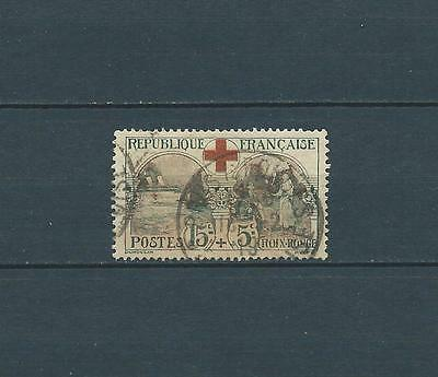 France - Croix Rouge - 1918 Yt 156 - Timbre Obl. / Used
