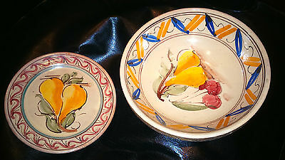 Italian Hand Painted Bowl And Plate