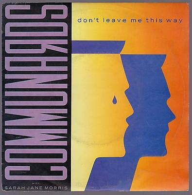 Communards With Sarah Jane Morris Disco 45 Giri Don' T Leave Me This Way