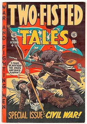 TWO FISTED TALES  #35  October 1953 - 10c - EC VG/Fine American COMICS
