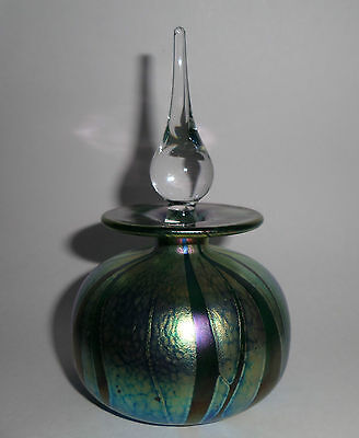 Lovely Alum Bay Glass Isle Of Wight Scent Perfume Bottle Iridescent