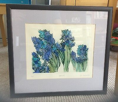 Pip Carpenter Hyacinth Print Signed 3/35 Limited Edition Print Framed Mounted