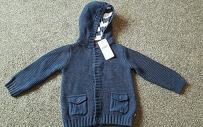 M & S hooded cardigan 9-12 months
