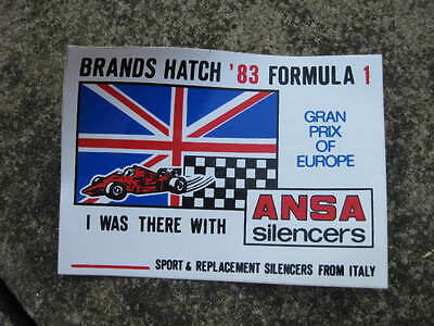 Original Ansa Exhausts sticker from 1983  Grand Prix of Europe at Brands Hatch