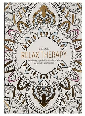 Large Adult Colouring Book Relaxing Art Therapy Anti-Stress Art 120 Designs New
