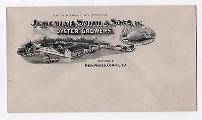 JEREMIAH SMITH Oyster Growers ENVELOPE Oysters NEW HAVEN Connecticut OLD COLONY