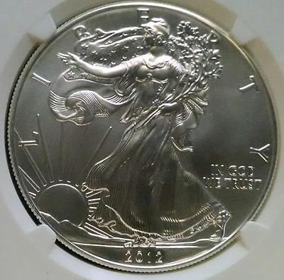 2012 Silver $1 American Silver Eagle NGC MS 70 Early Releases Perfect