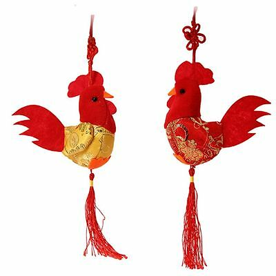 Wedding Pendant China Wind Plush Chicken Doll Rooster Cock