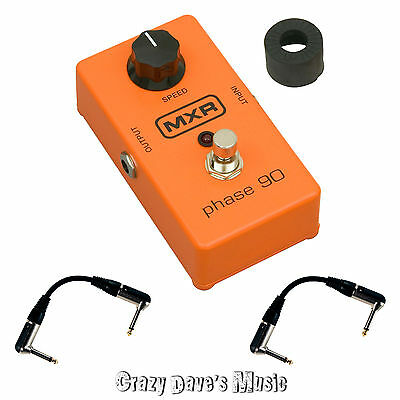 MXR Phase 90 M101 Phaser Shifter Effects Pedal Dunlop M 101 NEW w 2 Patch Cables