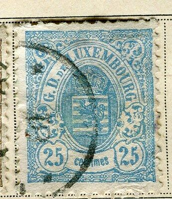 LUXEMBOURG;   1871 early classic perf issue used 25c. value