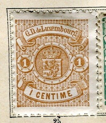 LUXEMBOURG;  1871 early classic perf issue Mint hinged 1c. value