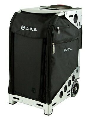 Zuca Professional Wheelie Case for Stenograph in Black with Silver Frame