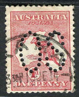 AUSTRALIA;  1913-15 early Roo issue used 1d. value