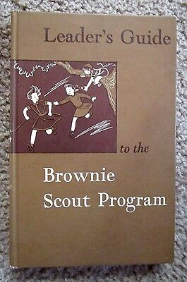 1957 printing of the Leaders Brownie Scout Handbook Girl Scouts Book