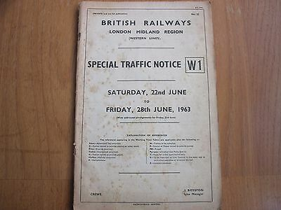 Br Lmr Special Traffic Notice  W1  5-11 October 1968 Crewe & South