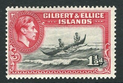 GILBERT & ELLICE ISLANDS;  1938 early GVI issue Mint hinged 1.5d. value
