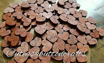 50 Rustic Wood Love Hearts Wedding Table Scatter Decoration Chic  Card Crafts