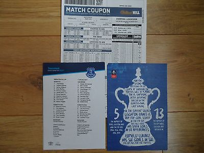 2016/17 - EVERTON v LEICESTER CITY - FA CUP - Teamsheet + Matchday coupon