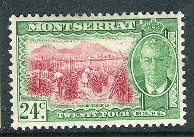 MONTSERRAT;  1950 early GVI issue fine Mint hinged 24c. value