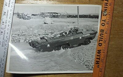 Lot (3) 1945 WWII Photos DUCW Vehicle France