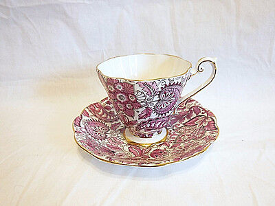 NIce Vintage Royal Standard Pink Paisley Cup and Saucer Set CHINTZ
