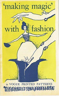 """1960s Vogue """"Making Magic with Fashion"""" 8 Page Fashion Tips Booklet"""