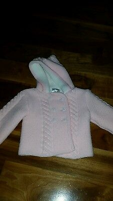 Baby Girl Pink Cardigan Coat 3-6 Months