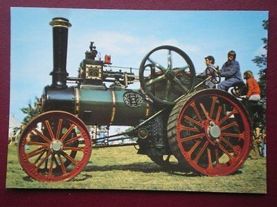 Postcard  Clayton & Shuttleworth Traction Engine 43130 Built 1921