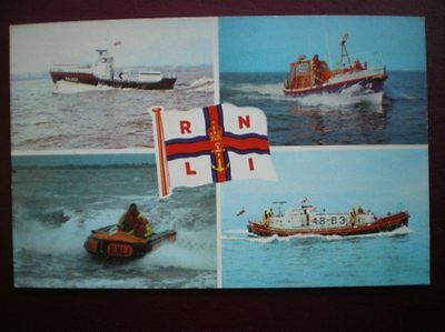 Postcard Lifeboats Rnli Lifeboats - 44Ft Waveney 37Ft Rother 48Ft Solent