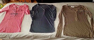 LOT of 3 American Eagle Henley style Shirts Womens XS Ex-Small