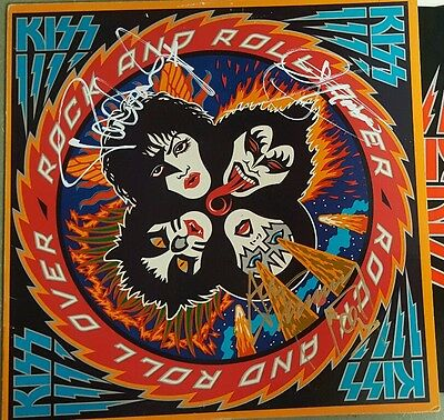 Kiss signed Rock and Roll Over Lp Paul Stanley,Gene Simmons,Ace Frehley