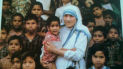 very rare Mother Teresa Signed picture on reverse