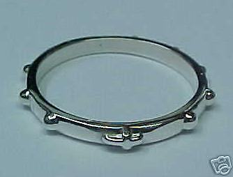 Rosary Ring Solid Sterling Silver size 5