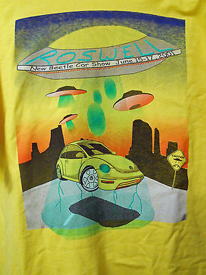 VW UF0  VINTAGE T-Shirt NEW for Roswell NM ALIEN Beetle Bug Show 2001 XL
