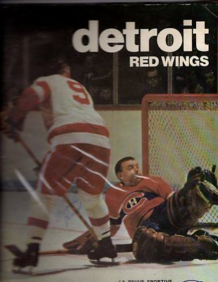 1969 Detroit Red Wings Yearbook + Program v Montreal; Nice!